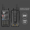 2019 original BAOFENG BF-UVB3 PLUS 8W High Power UHF/VHF Dual Band 10KM Long Range Walkie Talkie 3800mAh Battery Handheld Radio