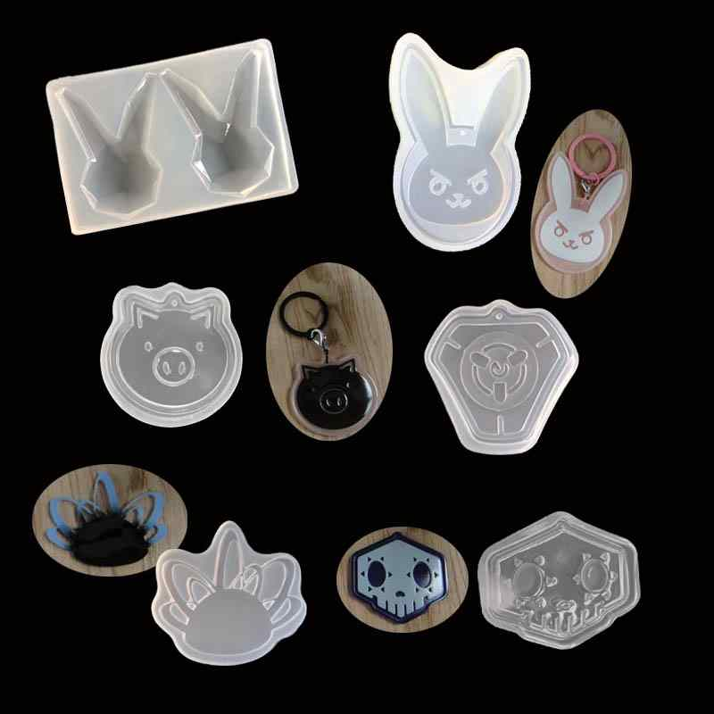 1pc Silicone 12 Constellation Pendants Mould Mold Hole Jewelry Making Mold BS