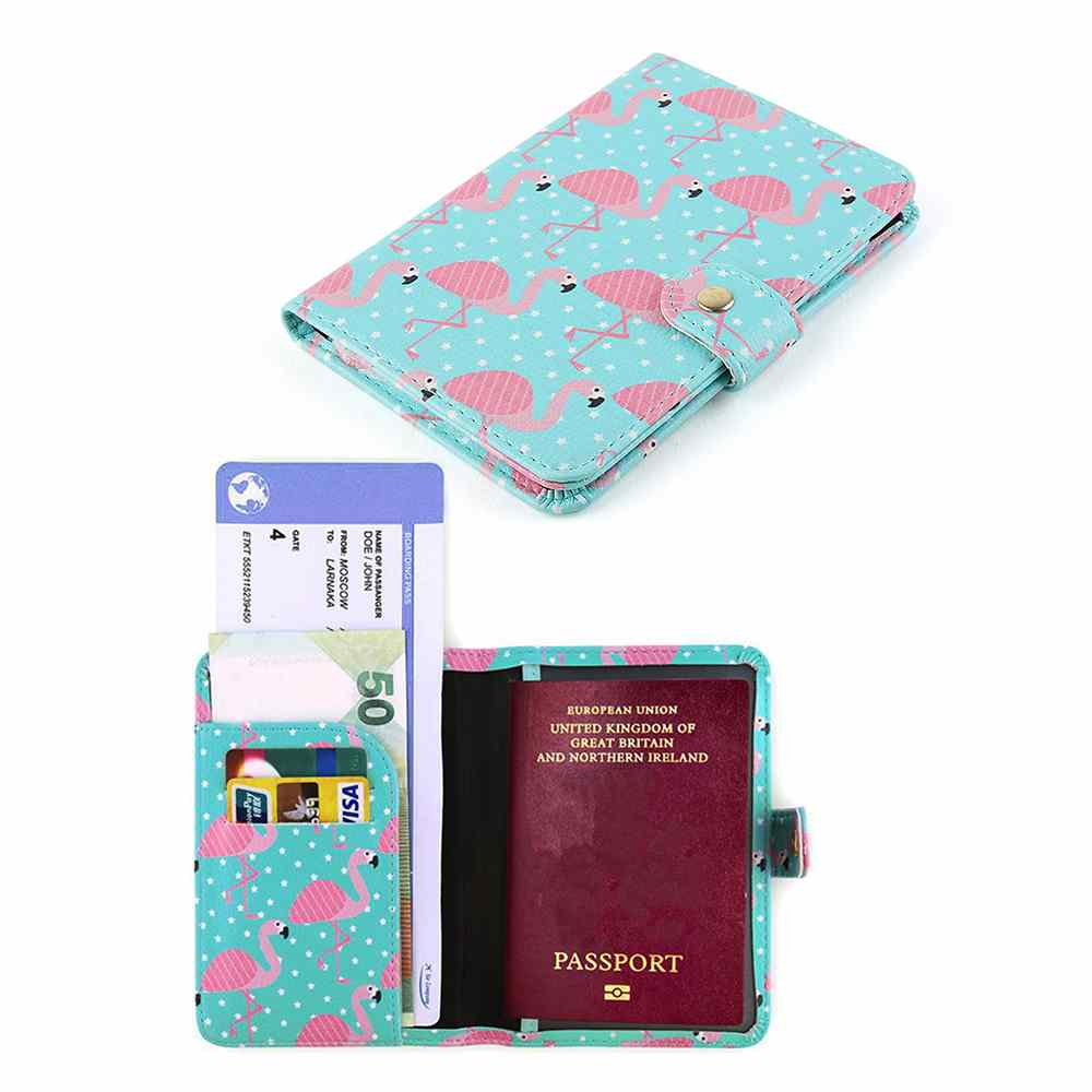 Men And Women Stylish Pu Leather Travel Accessories Passport Case With Pen Holder For Women Men Passport Case For Men Two Pairs Of Roller Skates