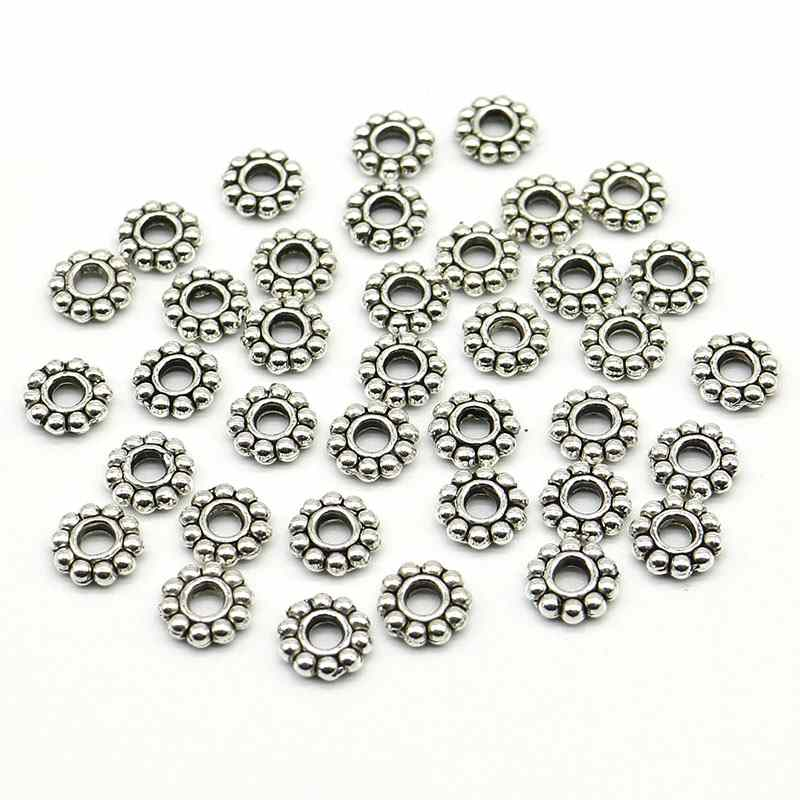 100pcs 3 mm Plaqué Argent Stardust Ball Spacer Beads Jewellery Making Findings