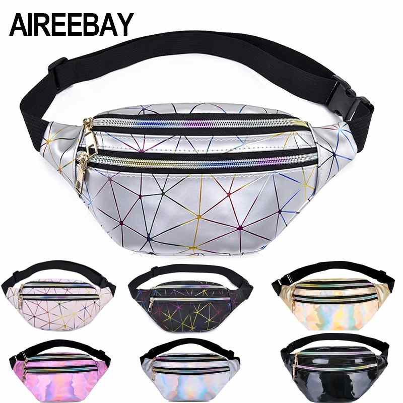 Fanny Pack transparent Waist Bag hologram bag Belt Bag Waist Pack Bolsa Feminina Hip Bag Belt Pouc,lan se
