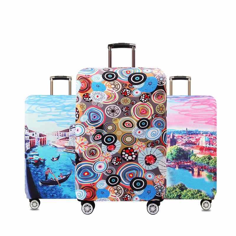 LAVOVO Colorful Elephants Luggage Cover Suitcase Protector Carry On Covers