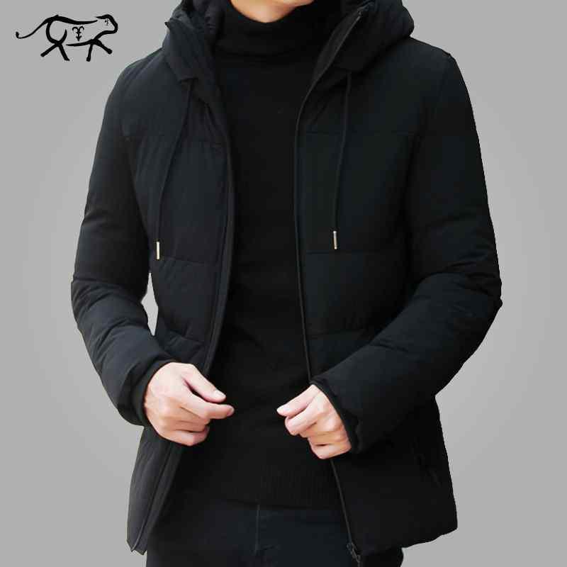 Korean Men Winter Stylish Slim Hooded Coat Casual Outerwear Tops Jackets 4 SIZES