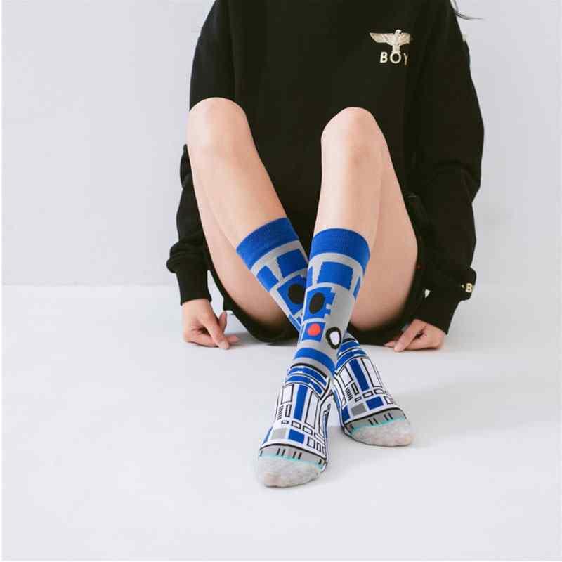 Men Novelty Cartoon Star Wars Fashion Socks Cotton Skateboard Sports Funny Socks
